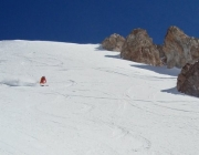 powder skiing in chile