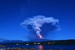 Last Night's Villarrica Volcano Eruption in Chile