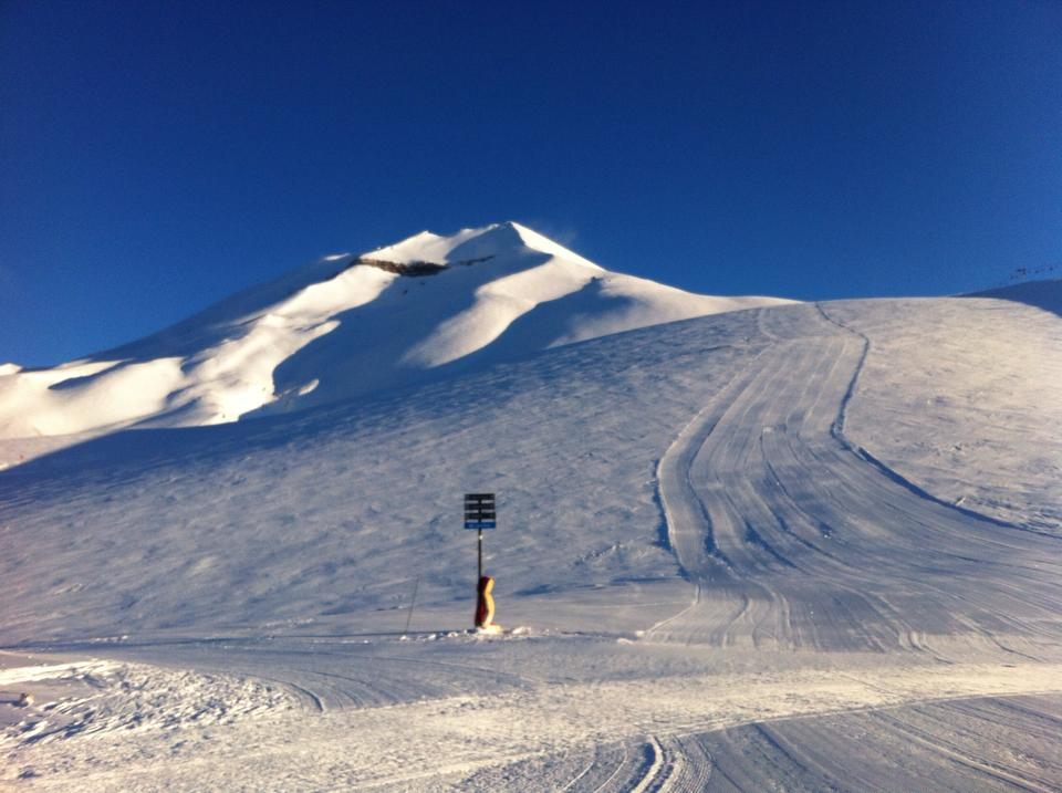 Corralco ski conditions in july