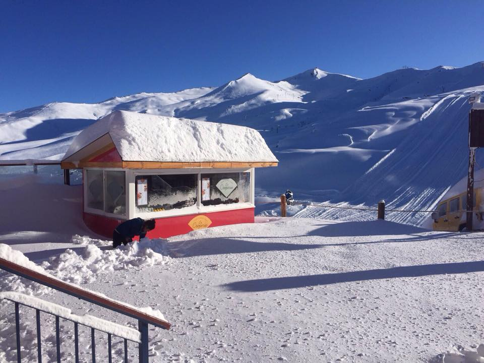 valle nevado new snow
