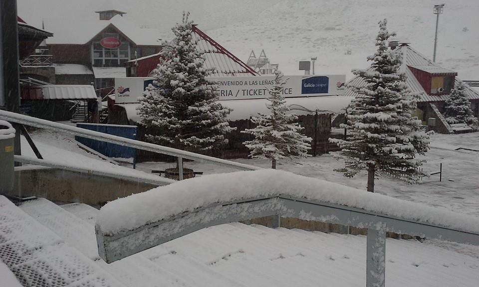 snow las lenas