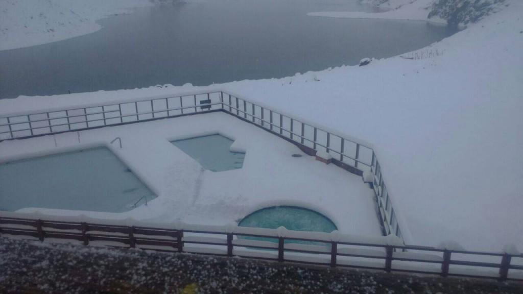 Portillo Chile July snow