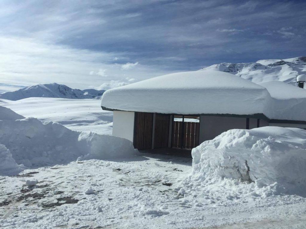 snow in farellones chile