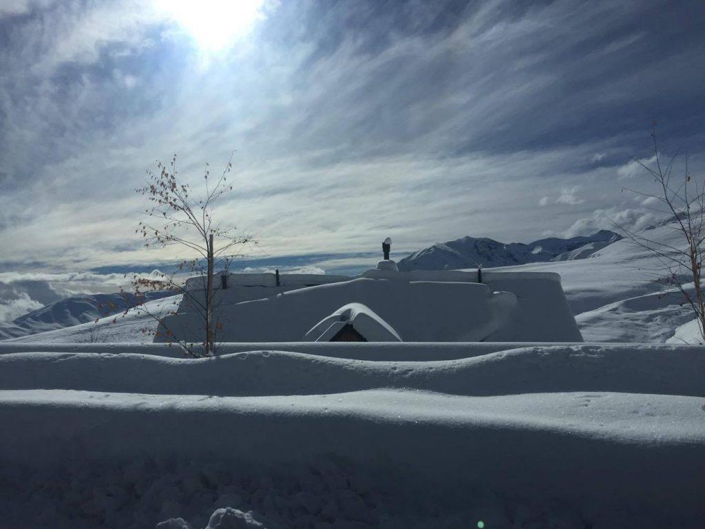 deep snow in Farellones