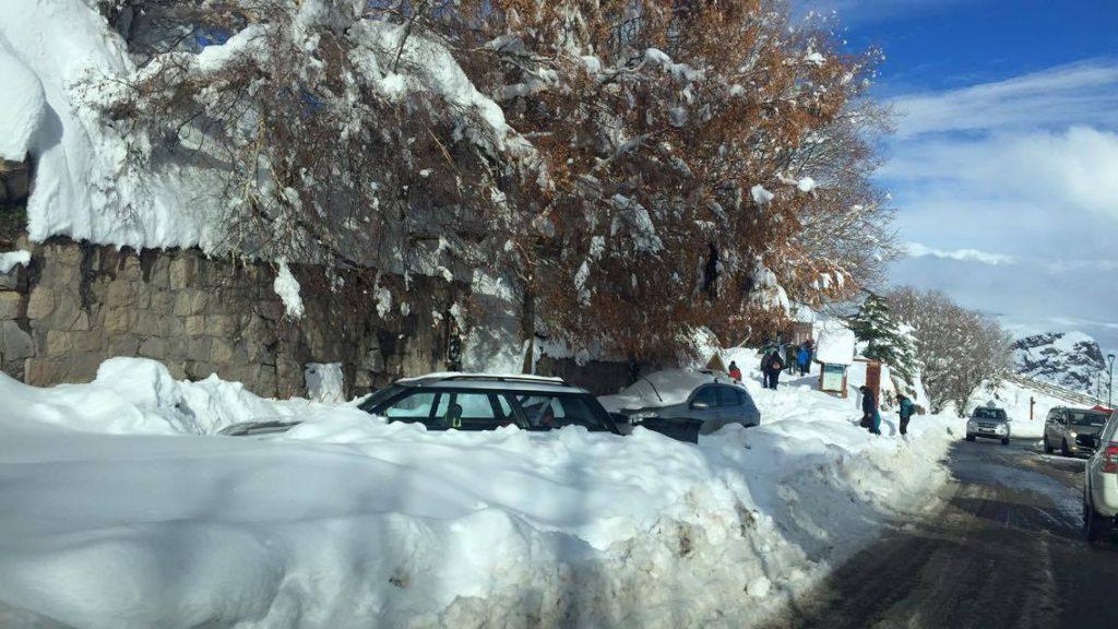 cars buried in Farellones