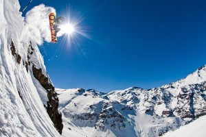 snowboarding-near-farellones