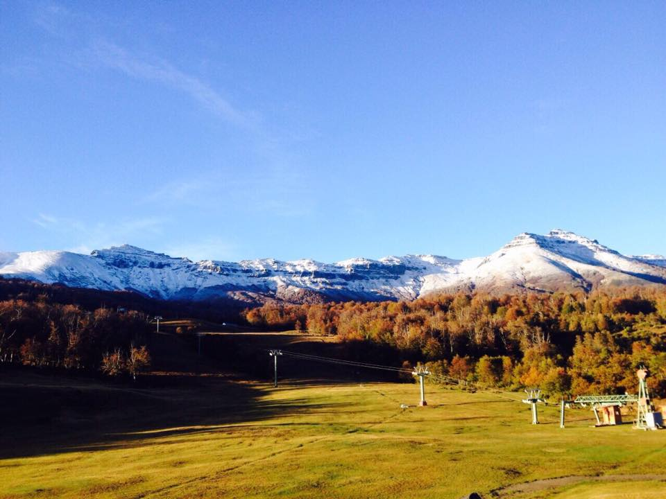 first snow cerro chapelco