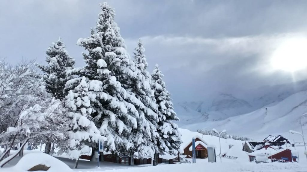 las lenas snowfall