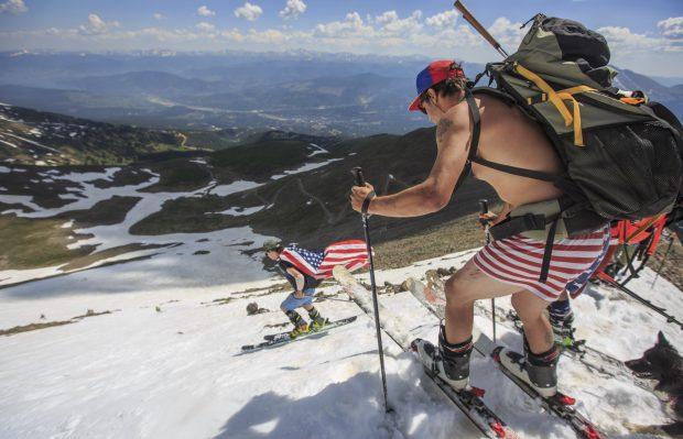 4th of july slush skiing