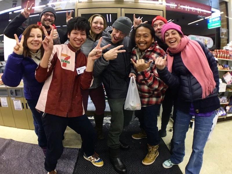 7-11 stop after dinner in hokkaido