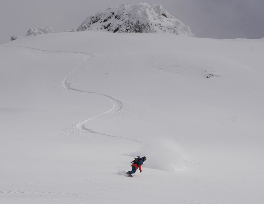 snowboarding Chapelco Argentina in June.