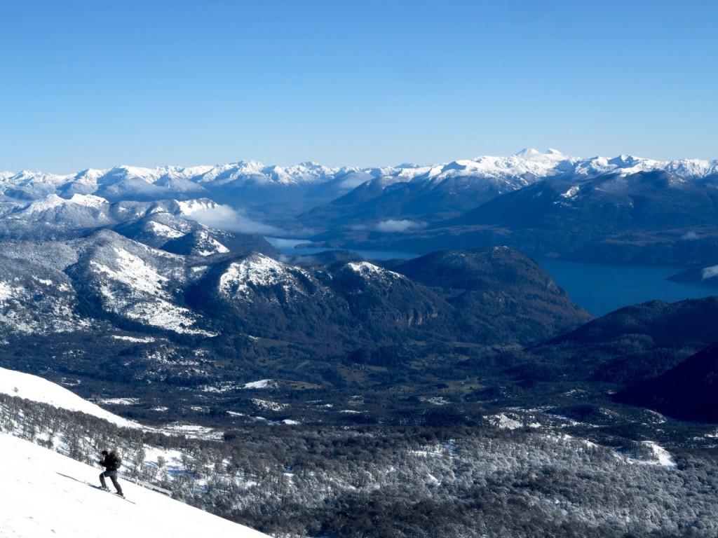 ski touring near chapelco