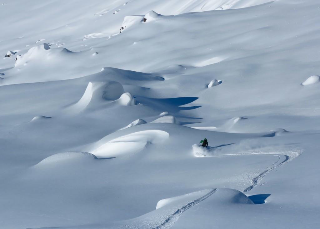 Skiing in June