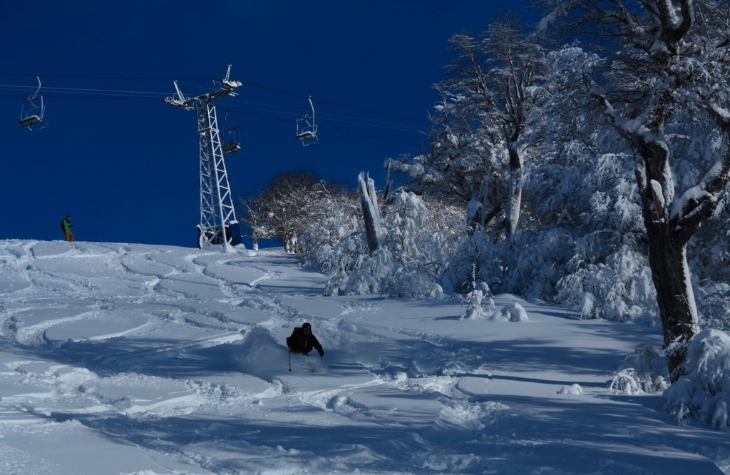skiing patagonia powder