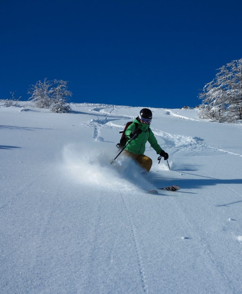 powder skiing near bariloche