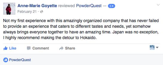 powder quest trip review