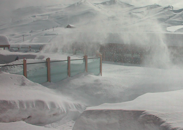 valle nevado deep snow