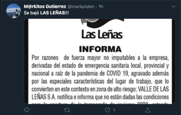 las lenas will not open 2020
