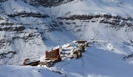 Skiing the Andes Mountains