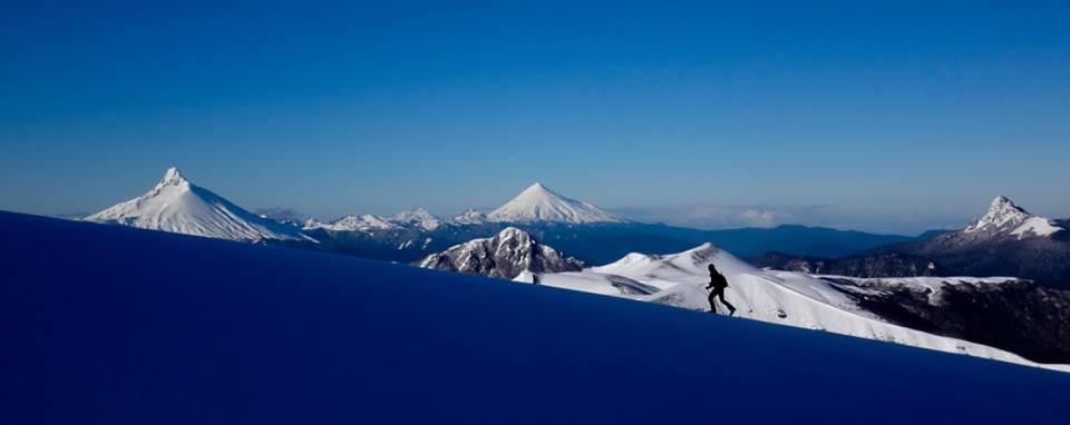 skiing volcanoes