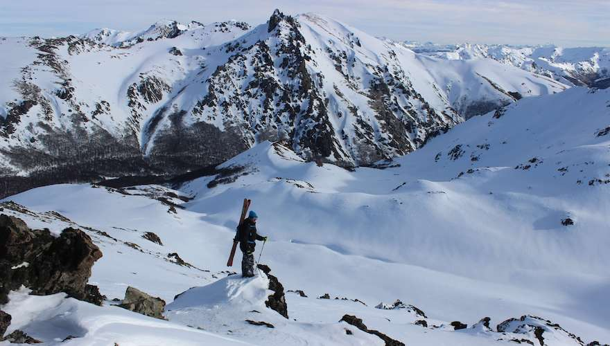 tim durtschi backcountry skiing in argentina