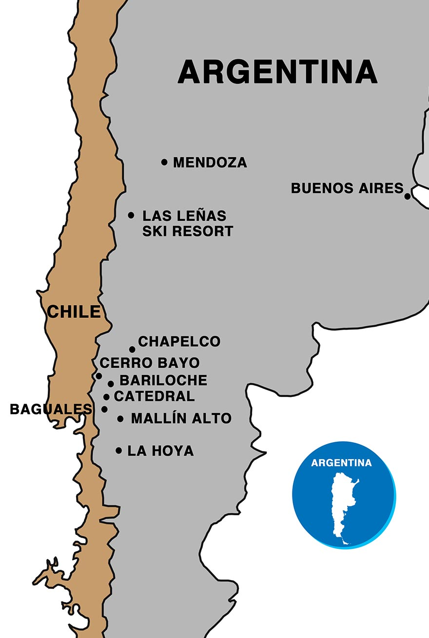 Argentina Resorts Map