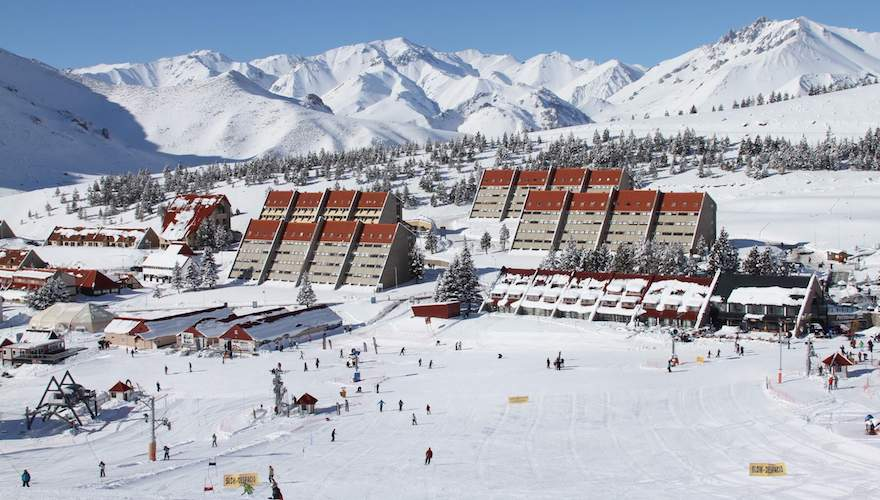 argentina ski resort: las lenas