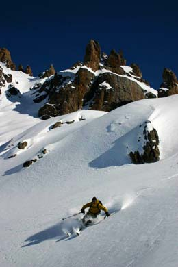 Backcountry powder outside of Bariloche