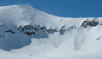 Wide open alpine terrain in Arpa.