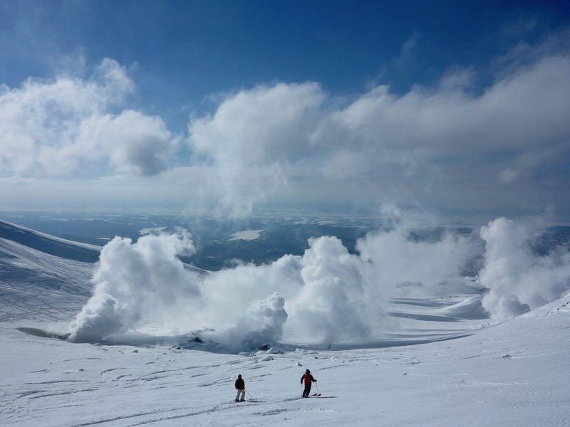 asahidake volcanic vents