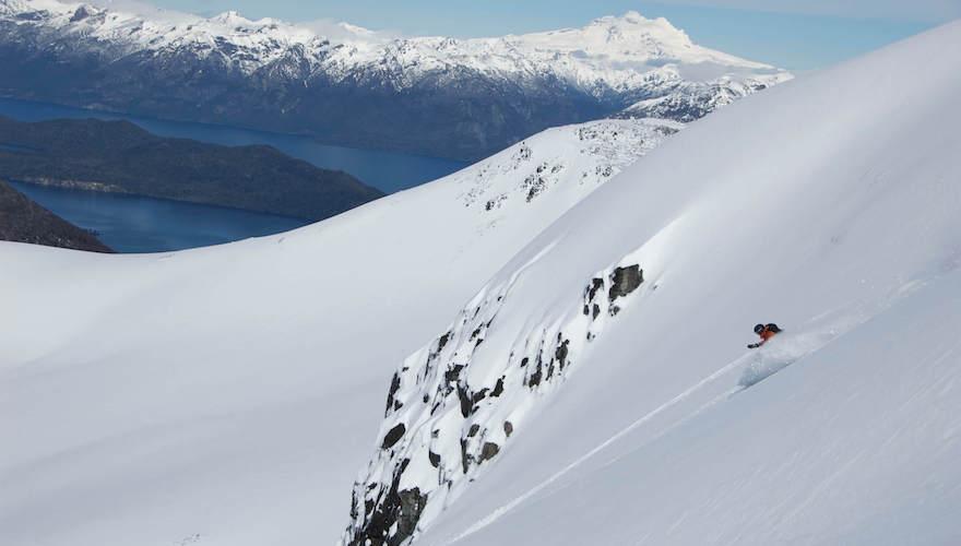 snowboarding in cerro bayo patagonia