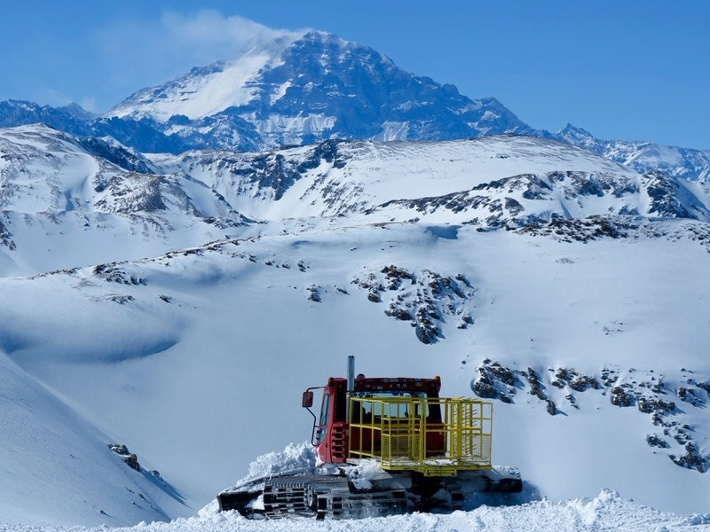 cat skiing in chile