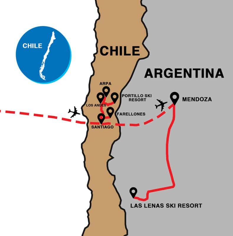skiing chile and las lenas