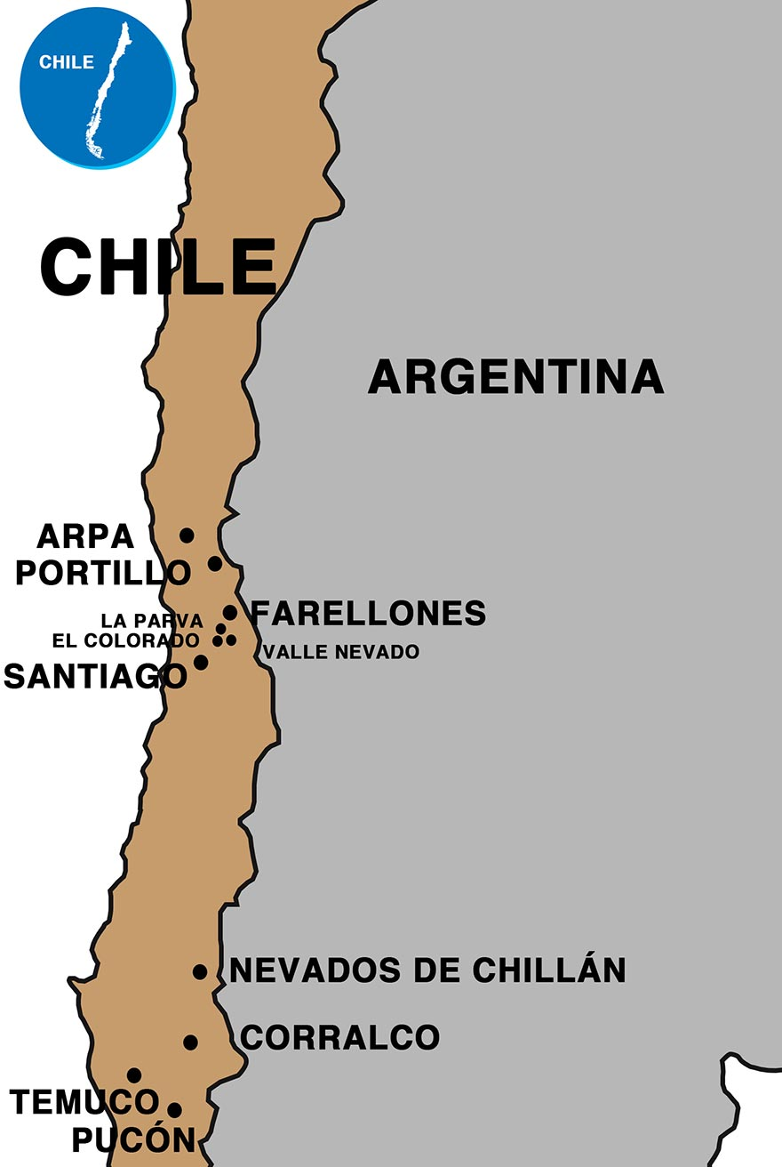 Chile Resorts Map