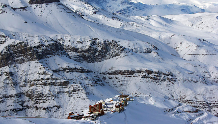 one of chile's best ski resorts; valle nevado