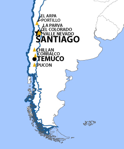 Chile & Argentina Resort Map