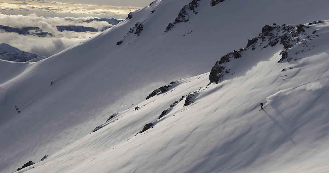 backcountry skiing in chillan chile.  Photo: Spencer Francey