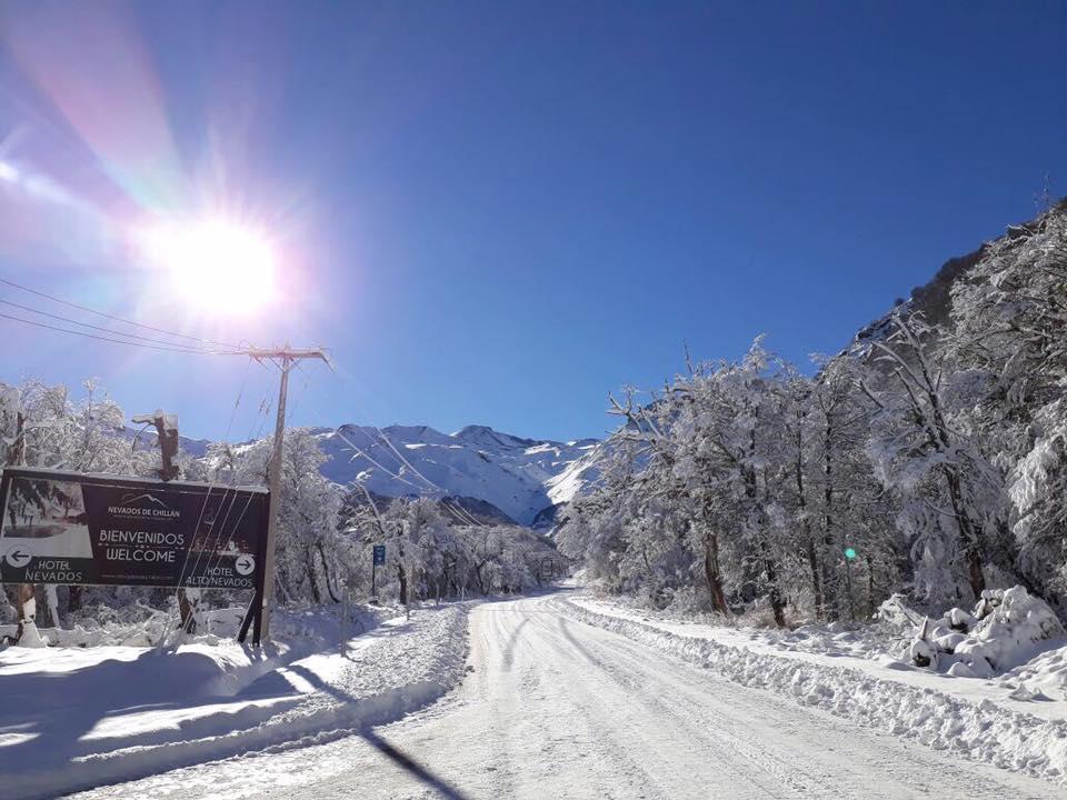 road to nevados de chillan