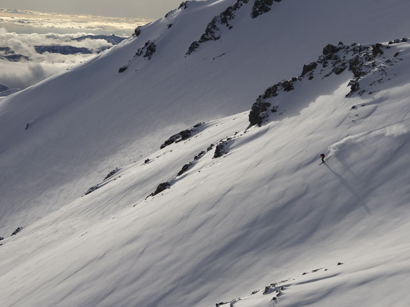 skiing chiles volcanoes