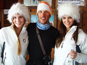 Chad with the La Parva vodka girls