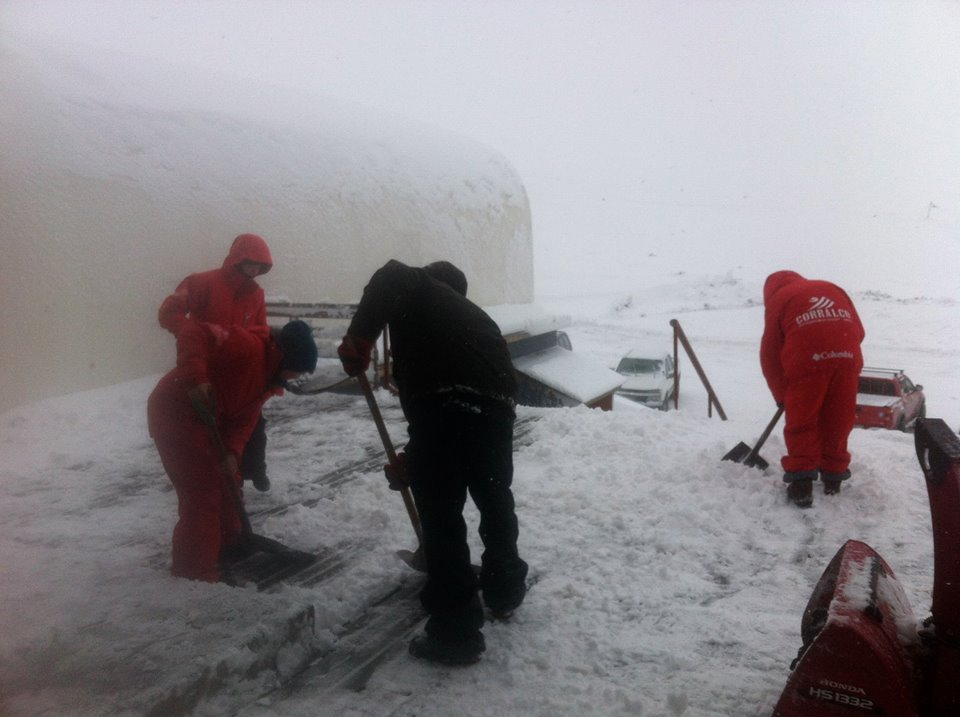 digging out in corralco