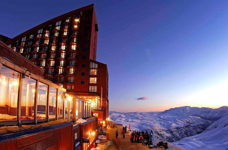 hotel puerta del sol in valle nevado ski resort