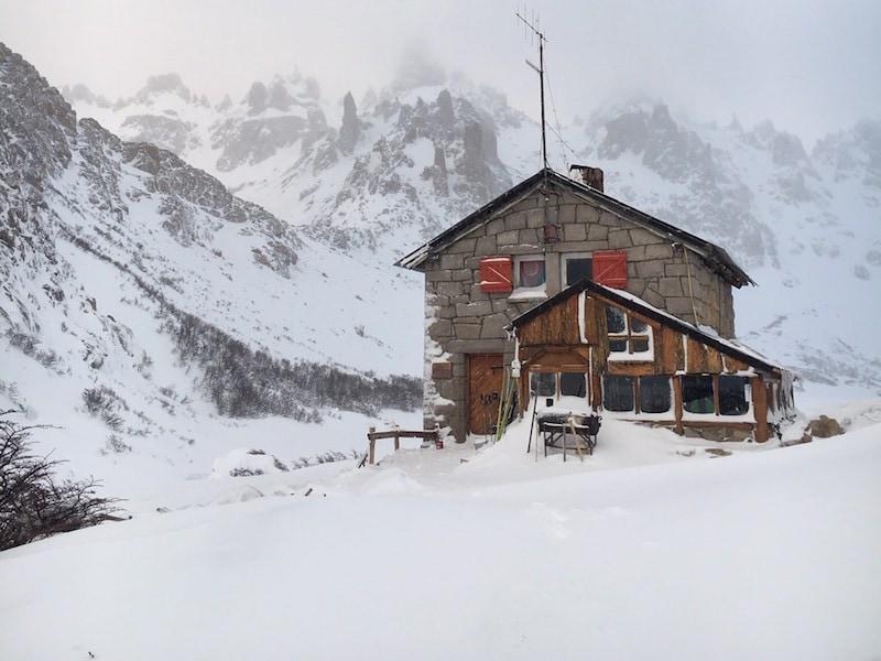 refugio frey backcountry hut