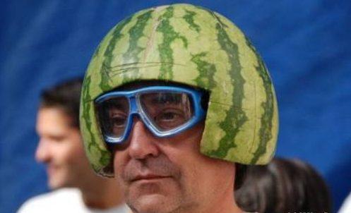 not your ideal ski helmet