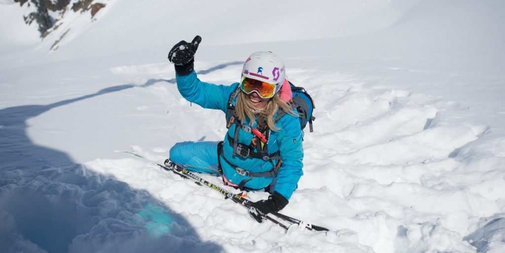 Jess Mcmillan skiing in Chile