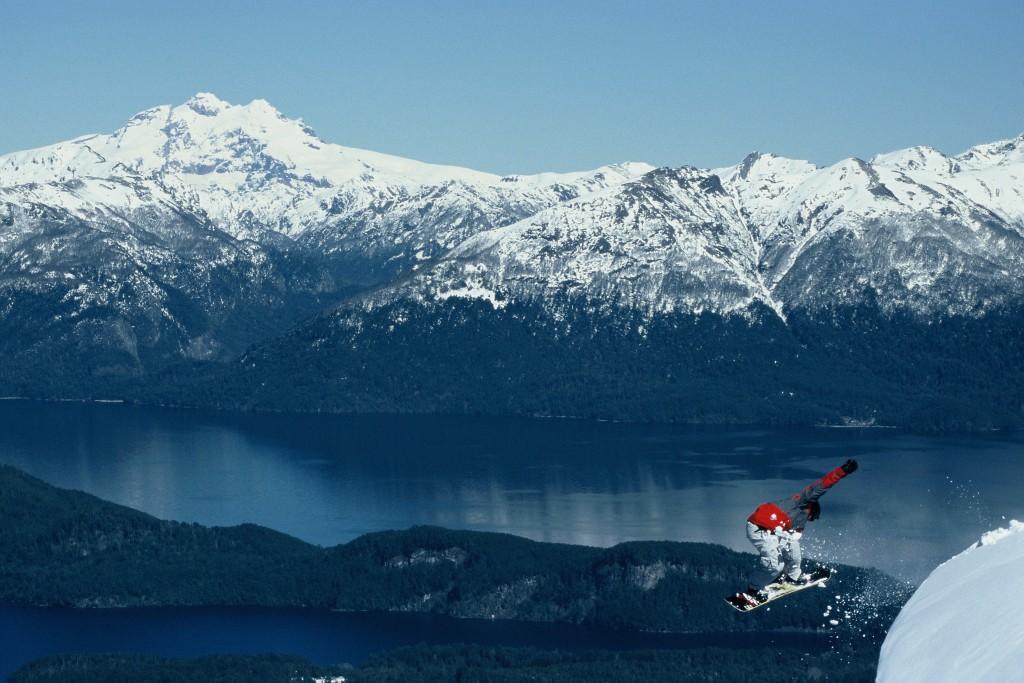 snowboarding in Patagonia