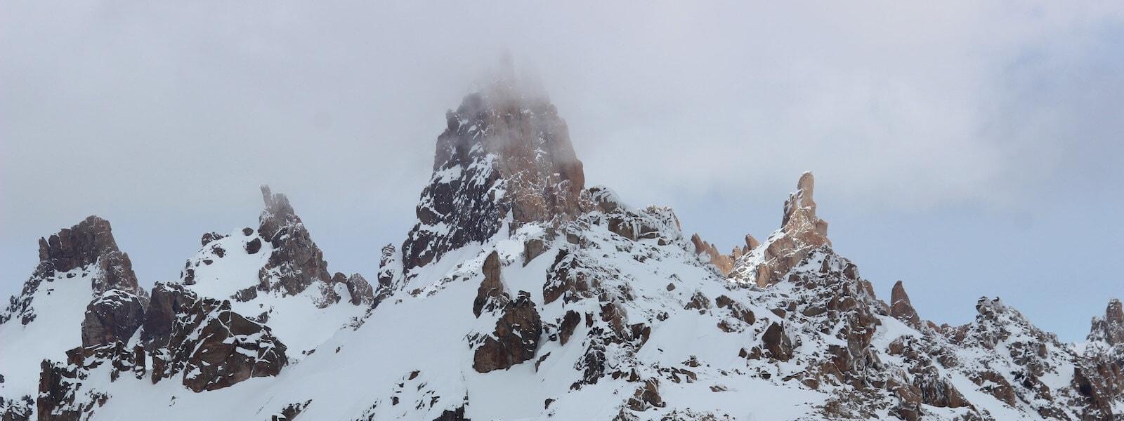 la hoya ski resort and the patagonia landscape