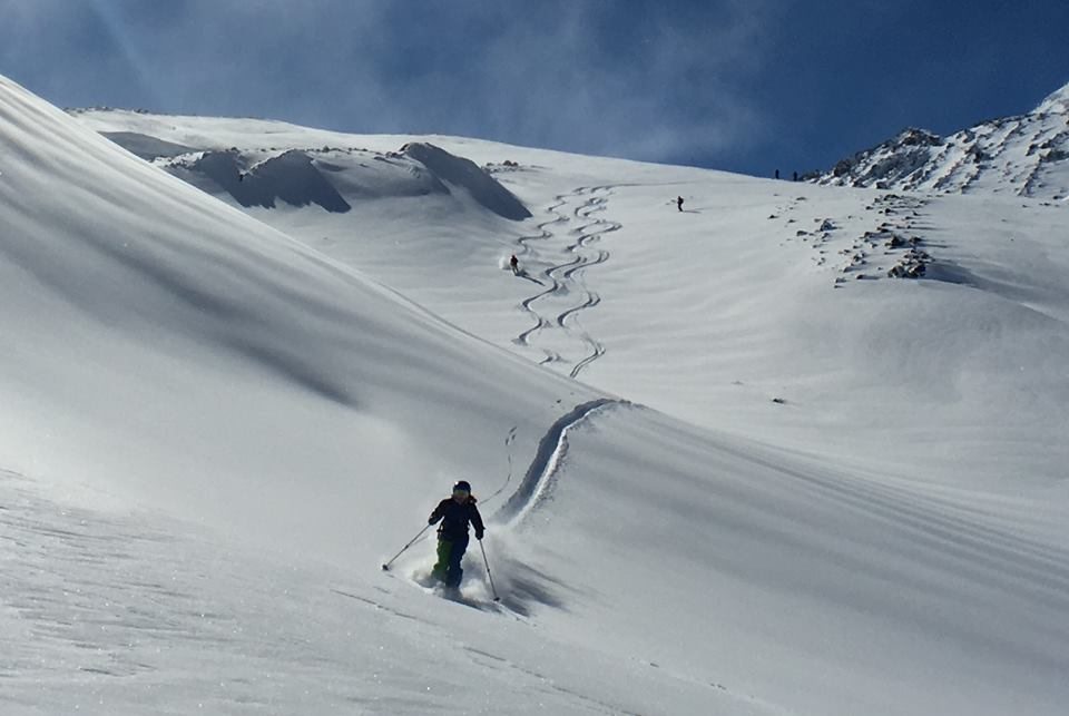 powder turns in south america