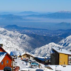 View of Santiago from La Parva