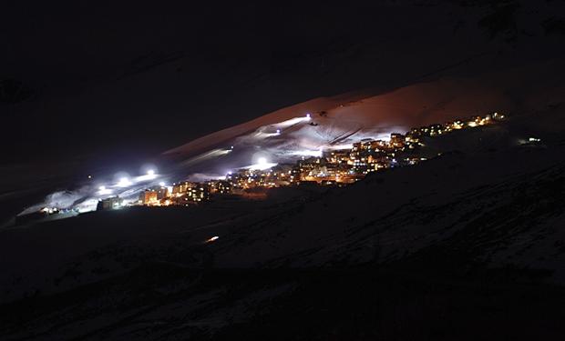 chile night skiing